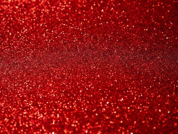 Widok z góry czerwony brokat tło