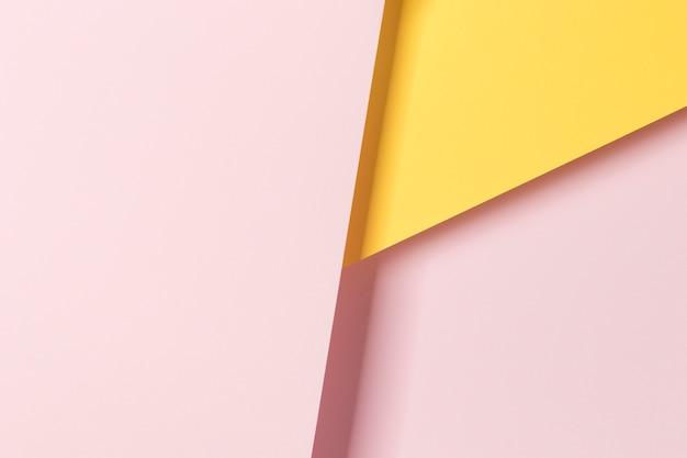 Widok z góry kolorowy papier szafka ozdoba