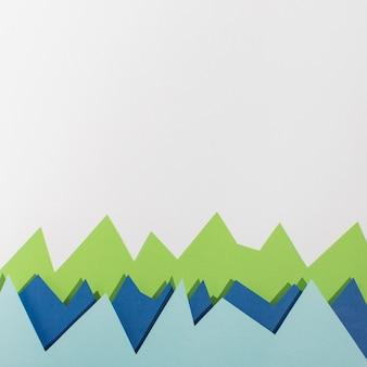 Widok z góry kolorowy układ papieru