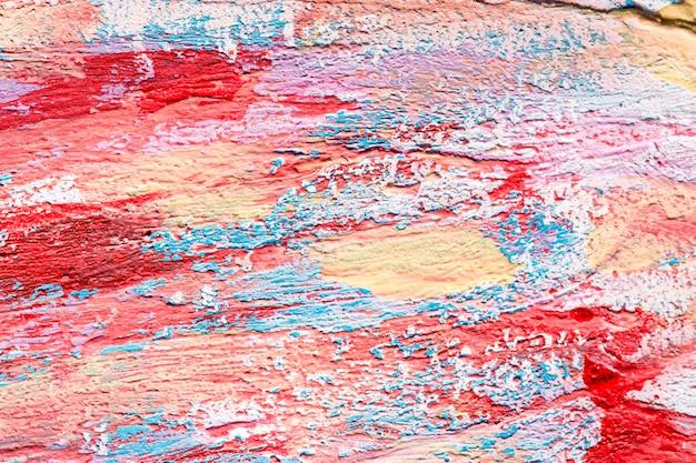 Widok z góry kolorowych pociągnięć pędzlem na powierzchni