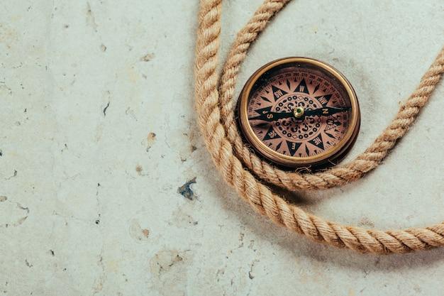 Widok z góry kompasu