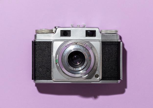 Widok z góry kompozycja aparatu vintage