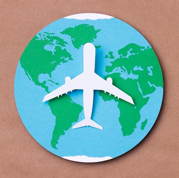 Widok z góry koncepcja dzień turystyki światowej