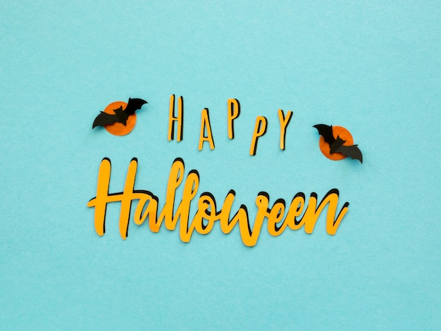 Widok z góry koncepcja halloween z pozdrowieniami