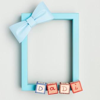 Widok z góry koncepcja ramki dzień ojca