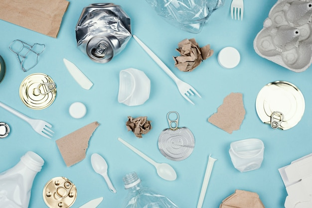 Widok z góry koncepcja recyklingu