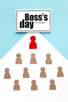 Widok z góry koncepcji dnia szefa
