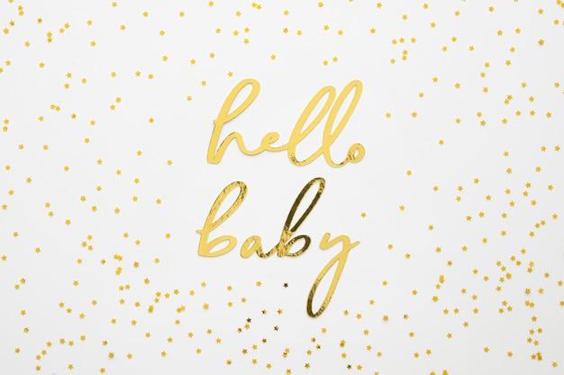 Widok z góry koncepcji pięknej baby shower