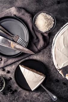 Widok z góry koncepcji pysznego ciasta