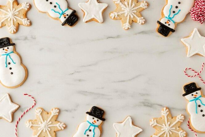 Widok z góry koncepcji rozmieszczenia plików cookie