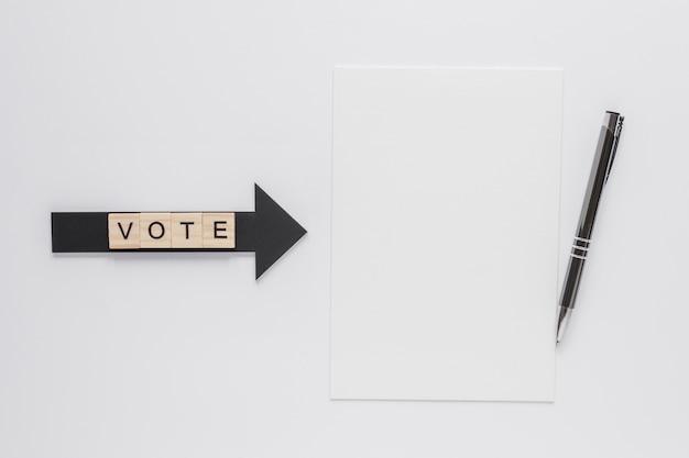 Widok z góry koncepcji wyborów z miejsca kopiowania