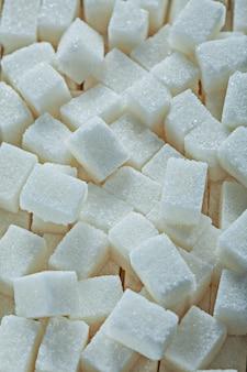 Widok z góry kostki cukru białego