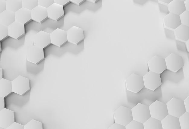 Widok z góry kreatywne tło z białymi kształtami