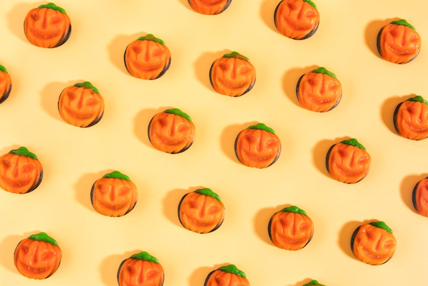 Widok z góry kreatywny asortyment na halloween