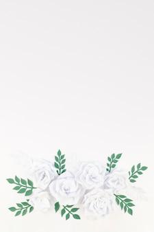 Widok z góry kwiatowy ramki z miejsca na kopię