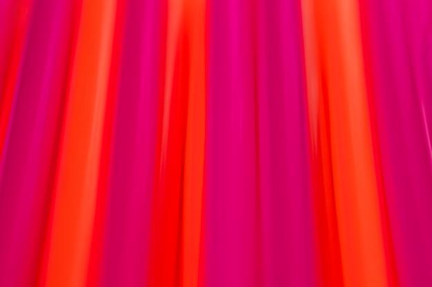 Widok z góry mieszane kolorowe słomki do picia z tworzywa sztucznego