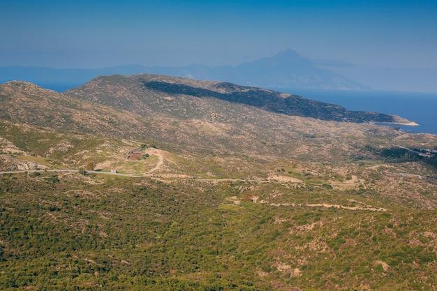 Widok z góry na góry