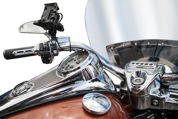 Widok z góry na klasyczny motocykl