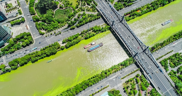 Widok z góry na most