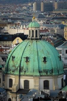 Widok z góry na stolicę austrii, wiedeń.