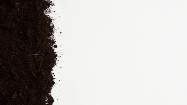 Widok z góry naturalna gleba z miejscem na kopię