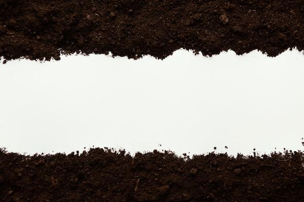 Widok z góry naturalna gleba