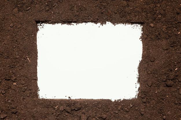 Widok z góry naturalna rama gleby