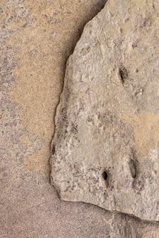 Widok z góry naturalna tekstura skały