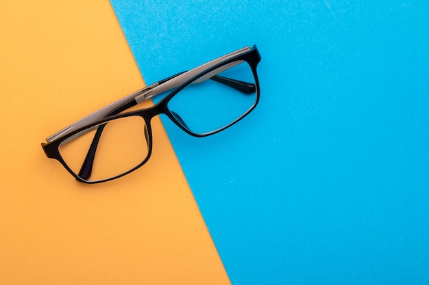 Widok z góry nowe okulary