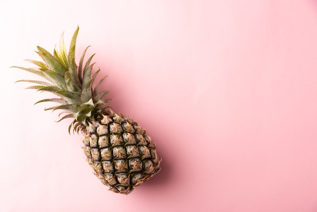 Widok z góry owoc ananasa