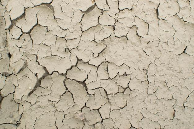 Widok z góry pęknięty suchej ziemi