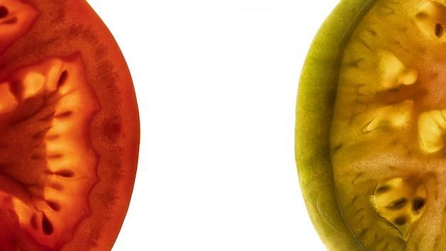 Widok z góry pomidory z miejsca na kopię