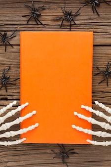 Widok z góry przerażająca koncepcja halloween