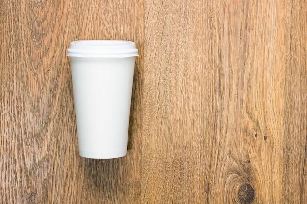 Widok z góry puste tło filiżanka kawy