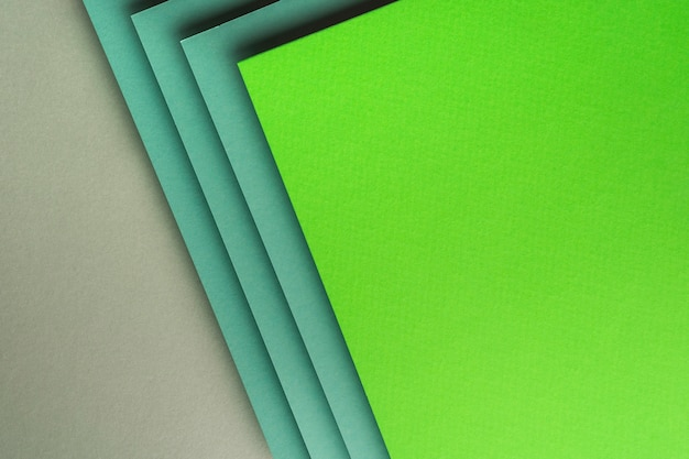 Widok z góry różnych arkuszy papieru