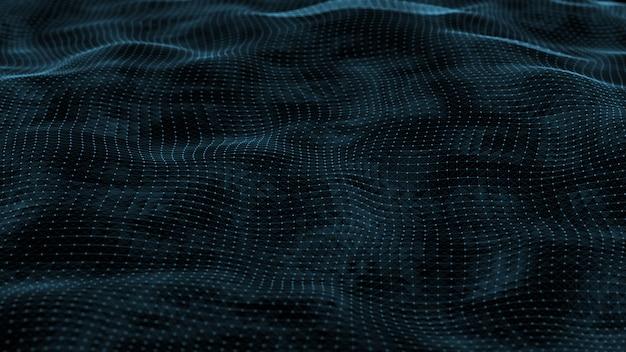 Widok z góry sieć fale sieciowe podłączone