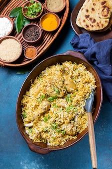 Widok z góry skład posiłku pakistan