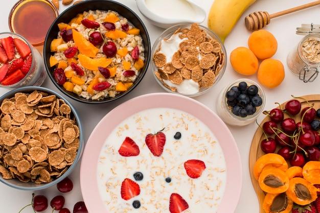 Widok z góry śniadanie koncepcja