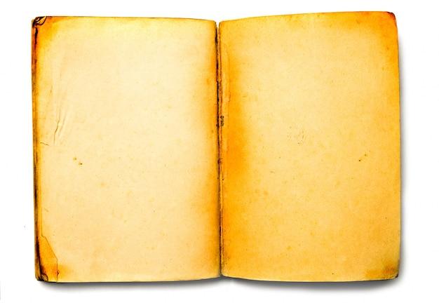 Widok z góry starej książki