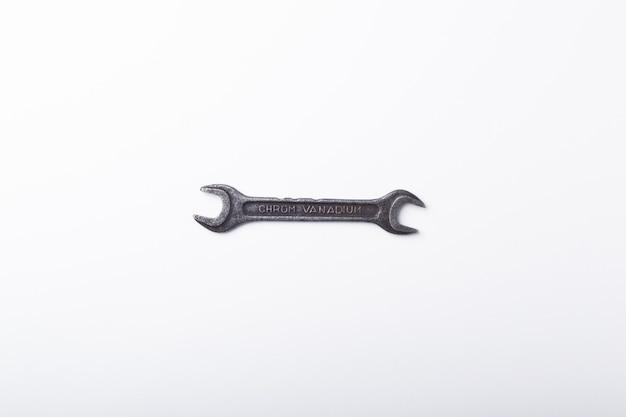 Widok z góry stary klucz z miejsca na kopię