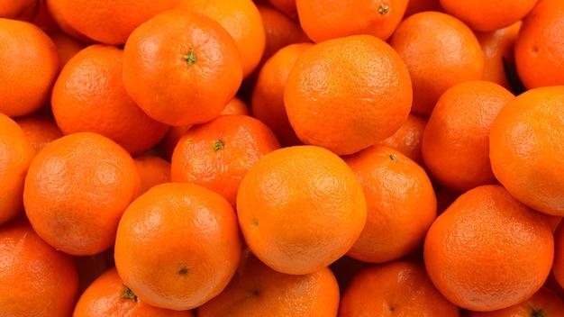 Widok z góry świeże dojrzałe mandarynki