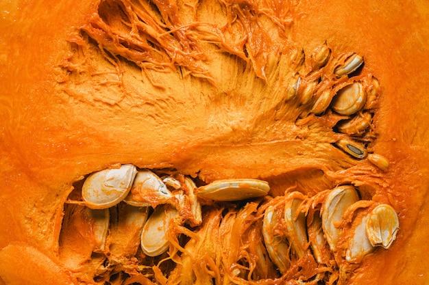 Widok z góry tapeta wnętrza dyni