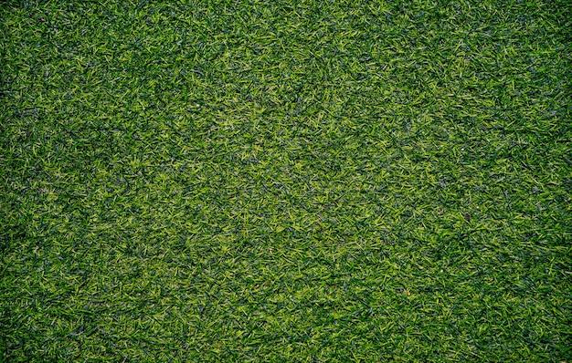 Widok z góry tekstura tła sztucznej trawy