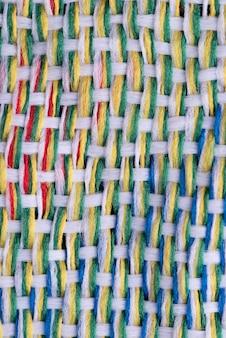 Widok z góry tekstury tkaniny
