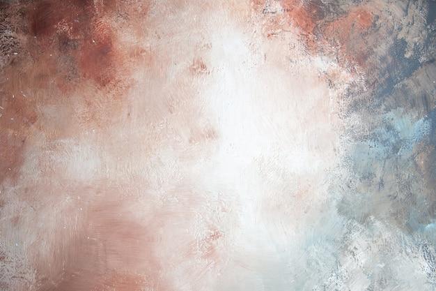 Widok z góry tło piękne biało-szaro-brązowo-kremowo-niebieskie tło