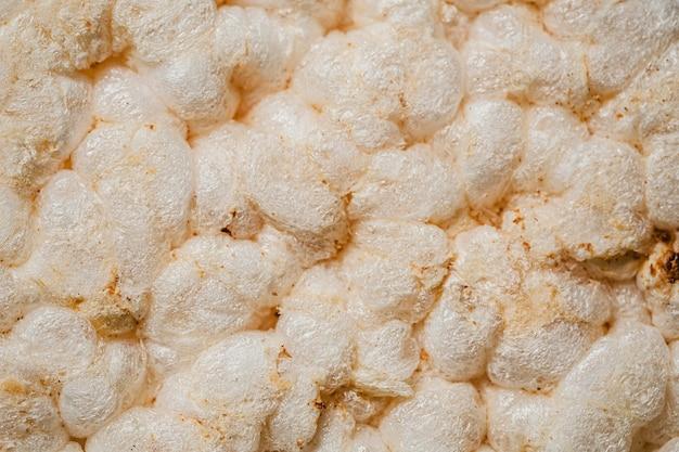 Widok z góry tło ryż dmuchany