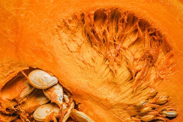 Widok z góry tło wnętrza dyni