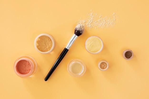 Widok z góry tworzą produkty kosmetyczne