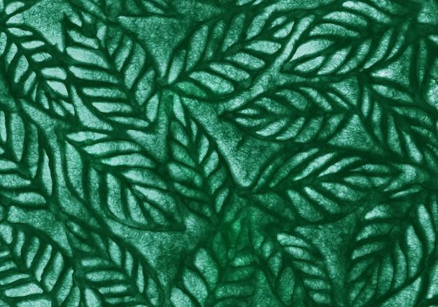 Widok z góry wzór tropikalnych zielonych liści na tle i pracy projektowej.