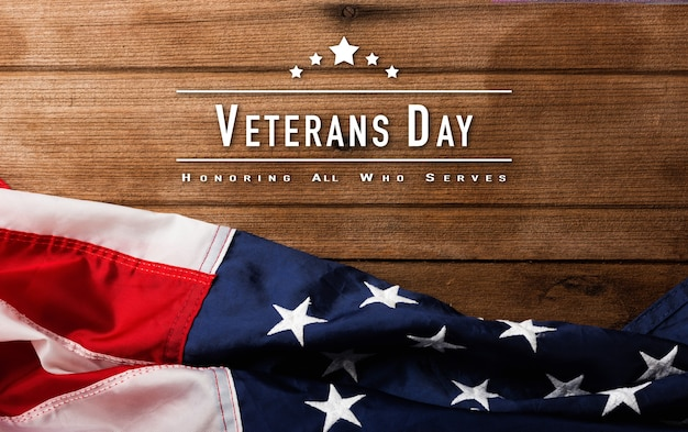 Widok z góry z góry ameryka stany zjednoczone upamiętniają pamiątkę i dziękuję za bohatera